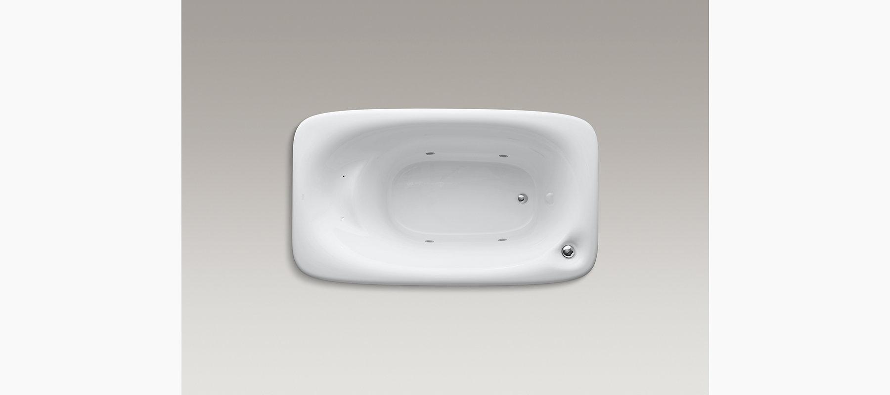 KOHLER| Fountainhead VibrAcoustic 6-Foot Bath with Right Drain | KOHLER