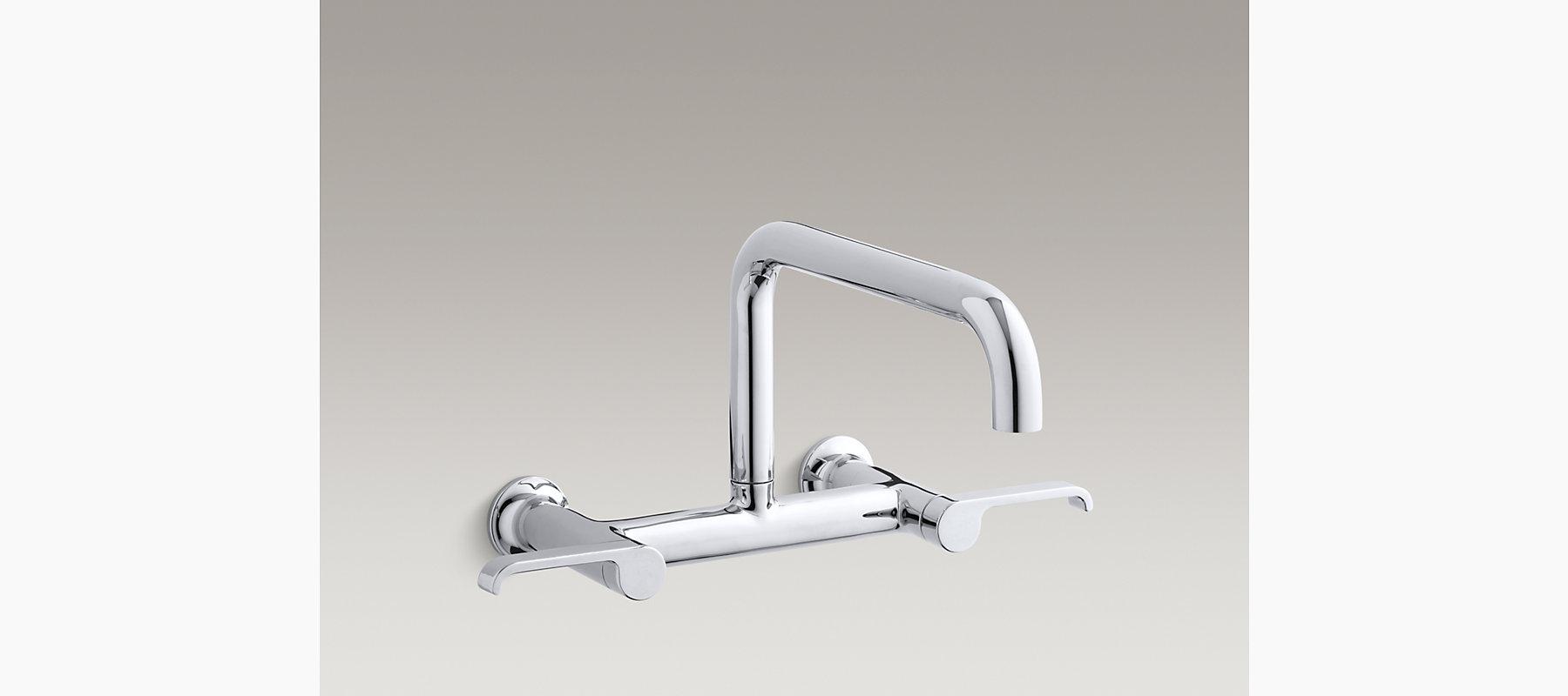 Torq Wall-Mount Bridge Kitchen Faucet | K-6127-4 | KOHLER