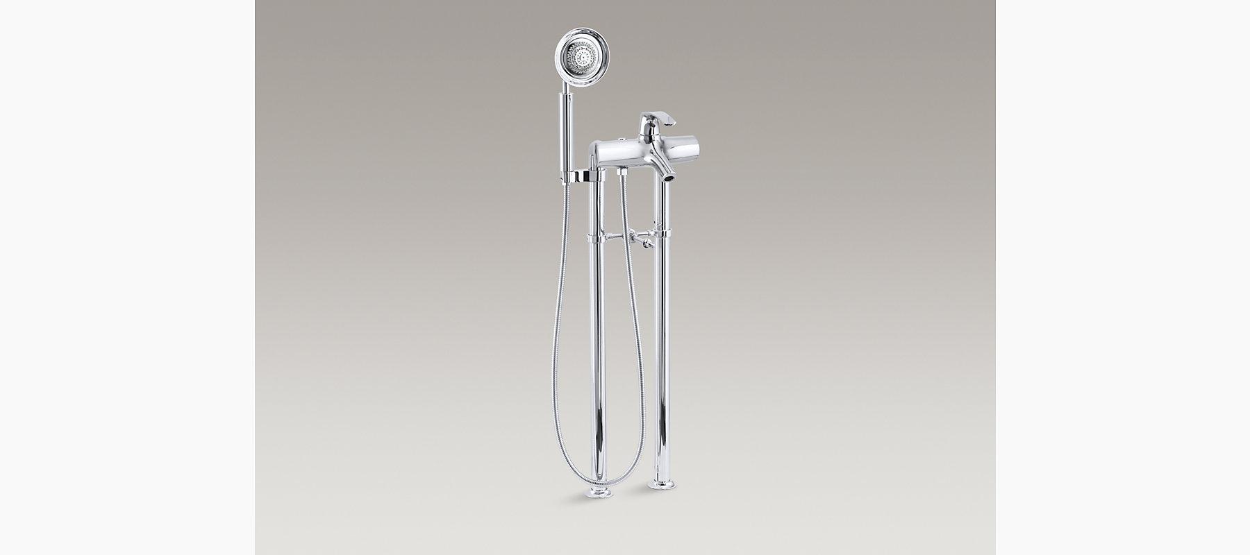 Symbol Bath Faucet with Handshower | K-18486-4 | KOHLER