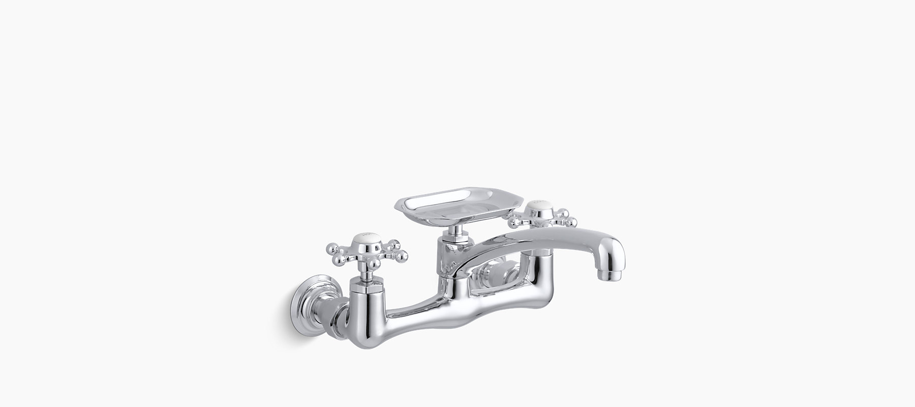 K-149-3 | Antique Wall-Mount Sink Faucet with 8-Inch Spout | KOHLER