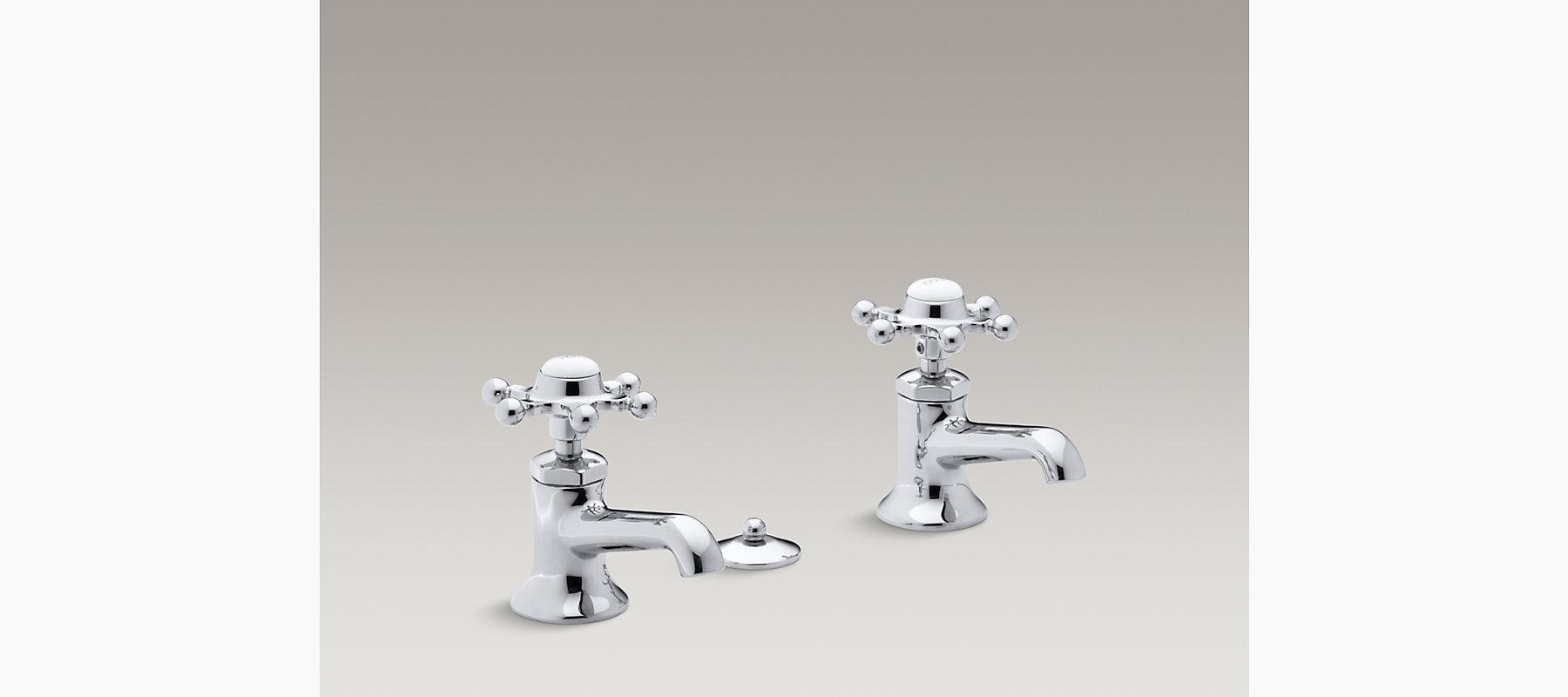 Antique Pillar Tap Sink Faucets, Six-Prong Handles | K-153-3 | KOHLER