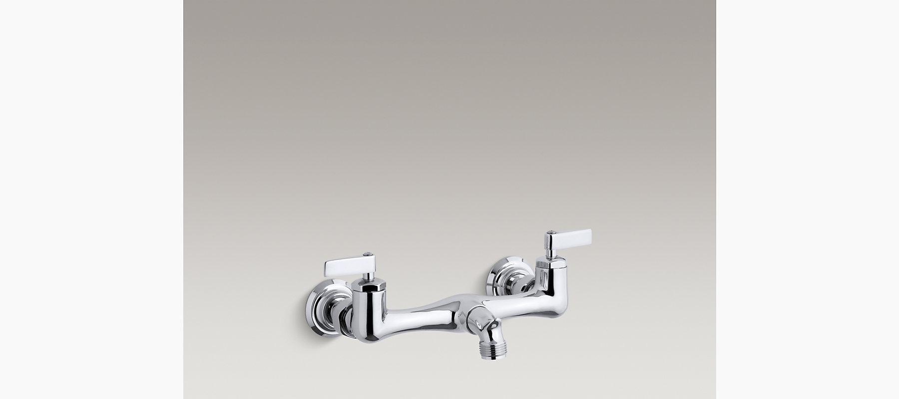 Knoxford double lever handle service sink faucet and loose-key stops ...