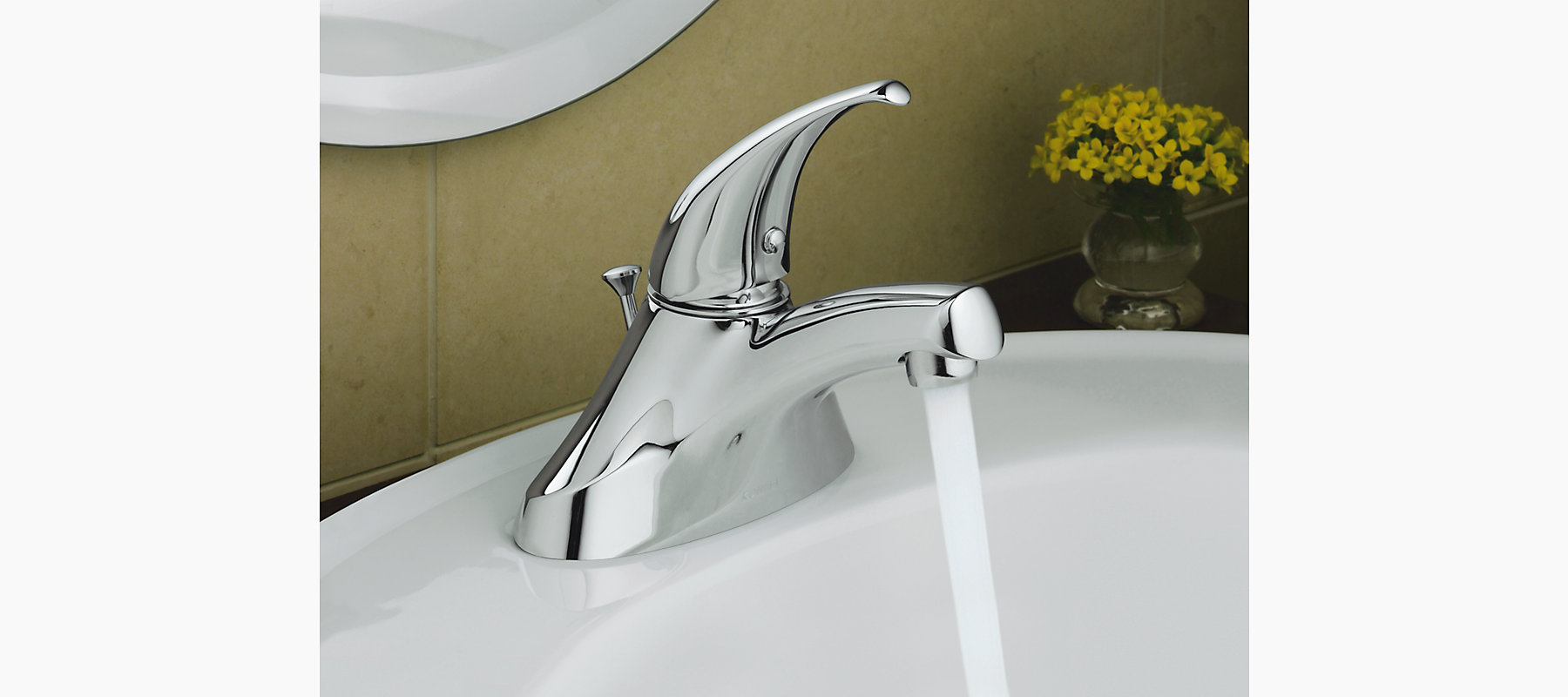 Coralais centerset commercial bathroom sink faucet with lever handle ...