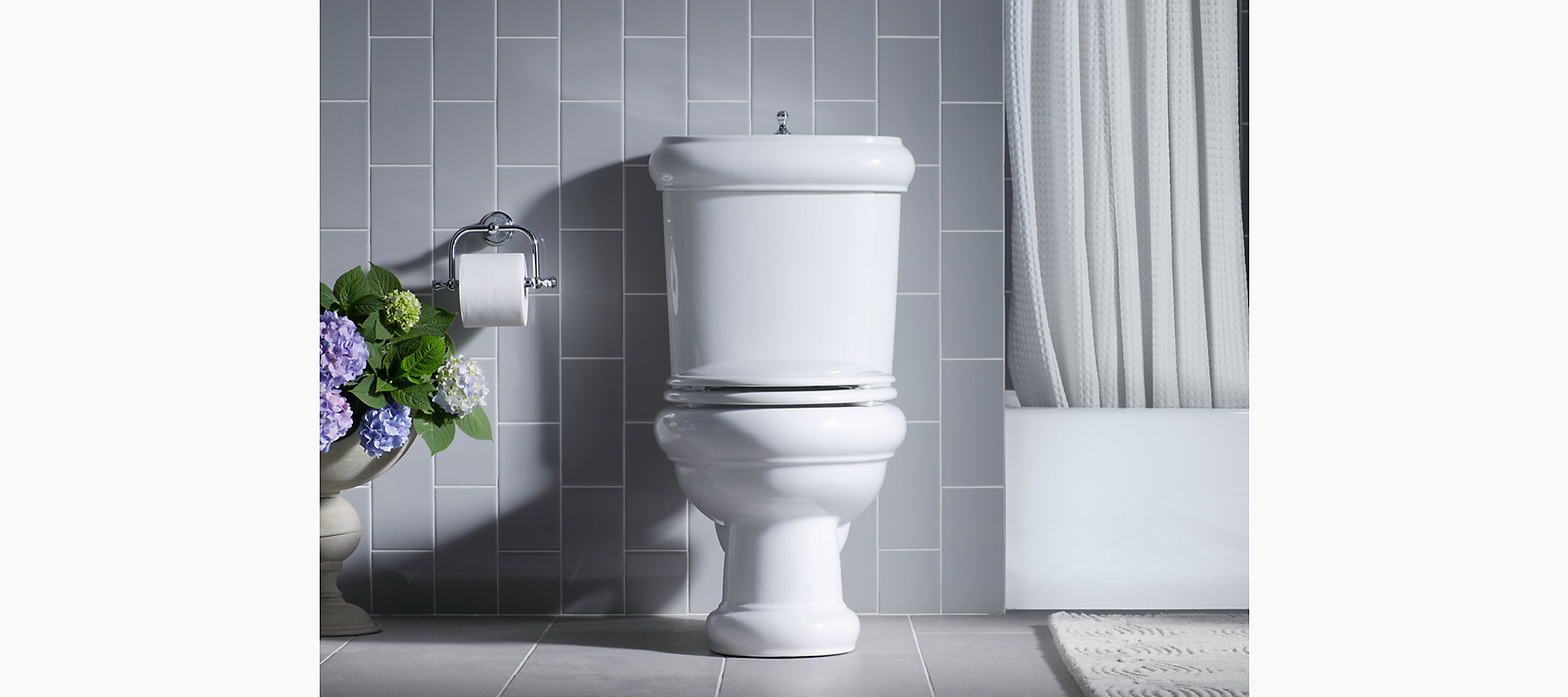 KOHLER|K-3555|Revival Two-Piece Elongated 1.6-GPF Toilet with Seat ...