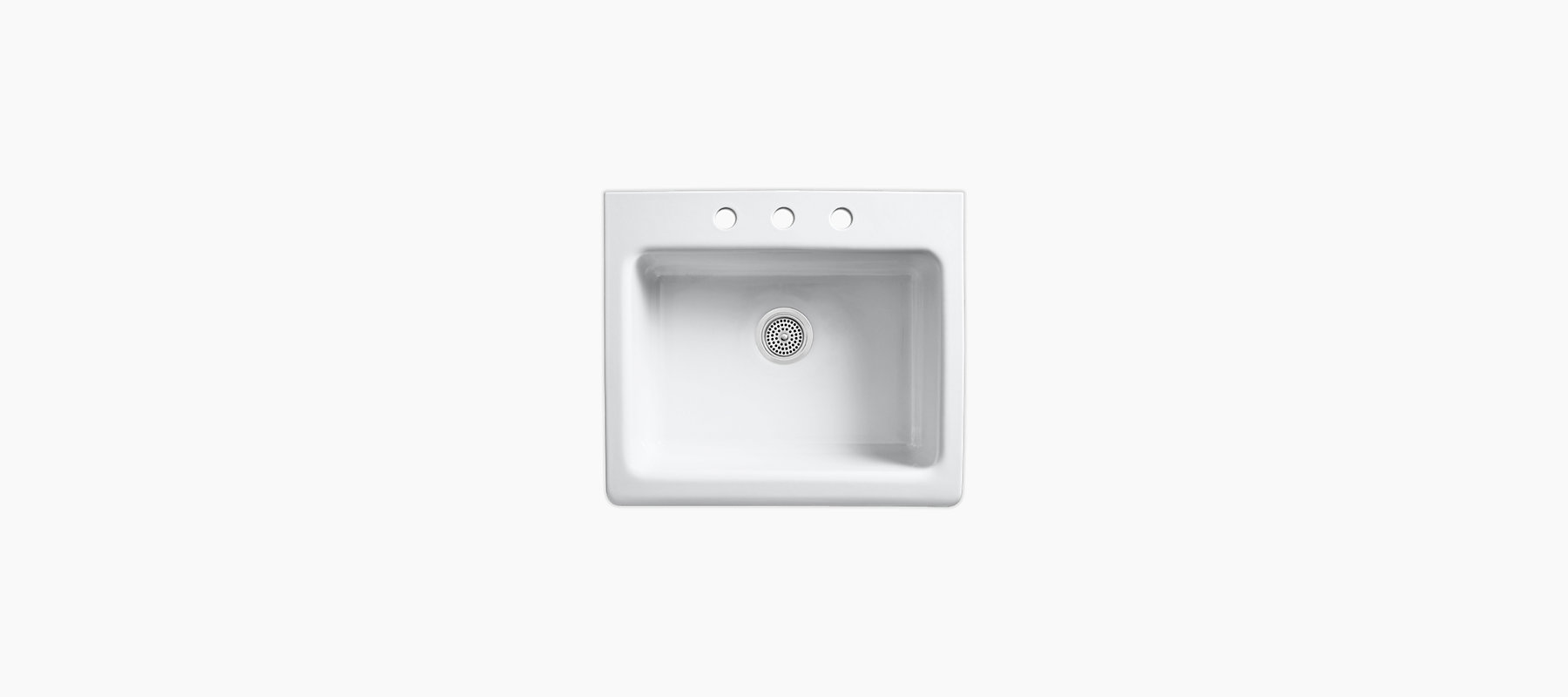 Alcott Apron-Front Kitchen Sink with Three Faucet Holes | K-6573-3 ...