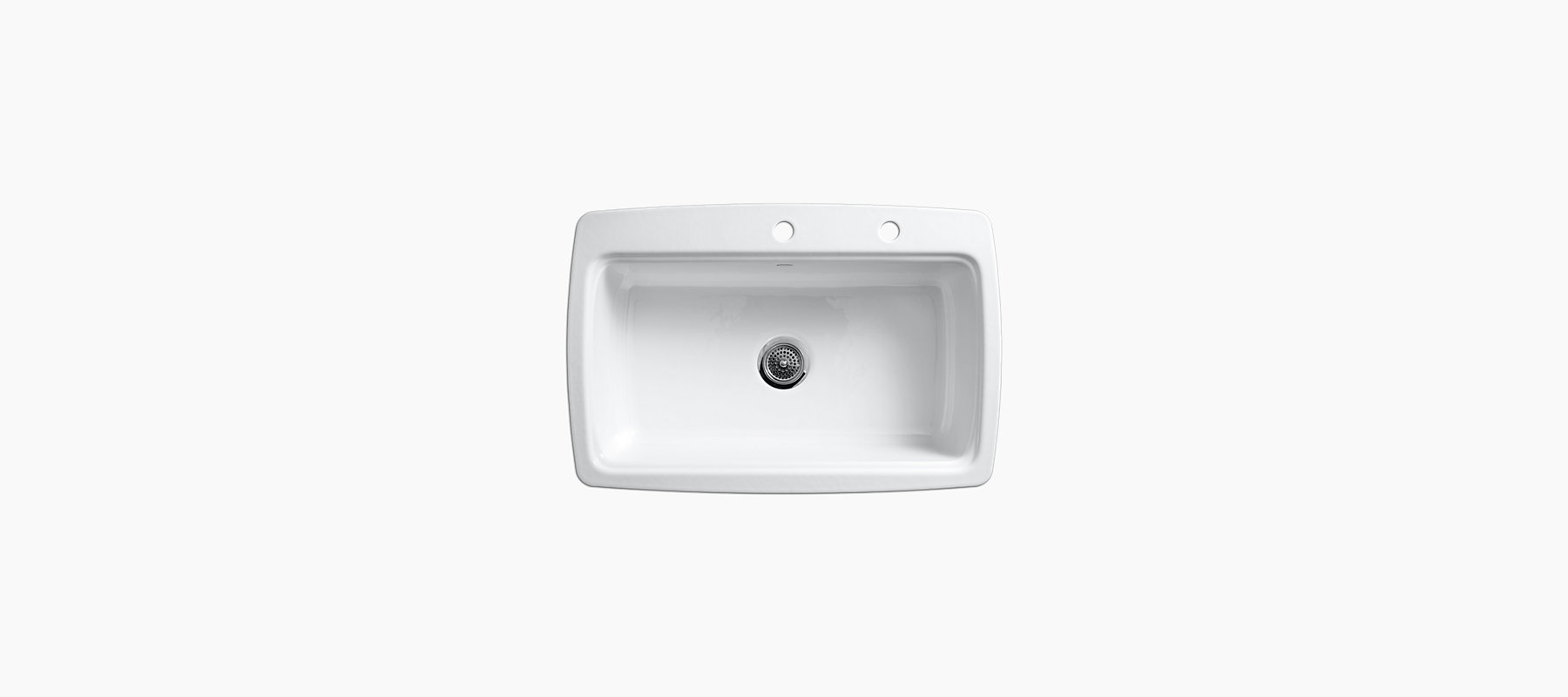 Cape Dory Tile-In Kitchen Sink with Two Faucet Holes | K-5864-2 | KOHLER