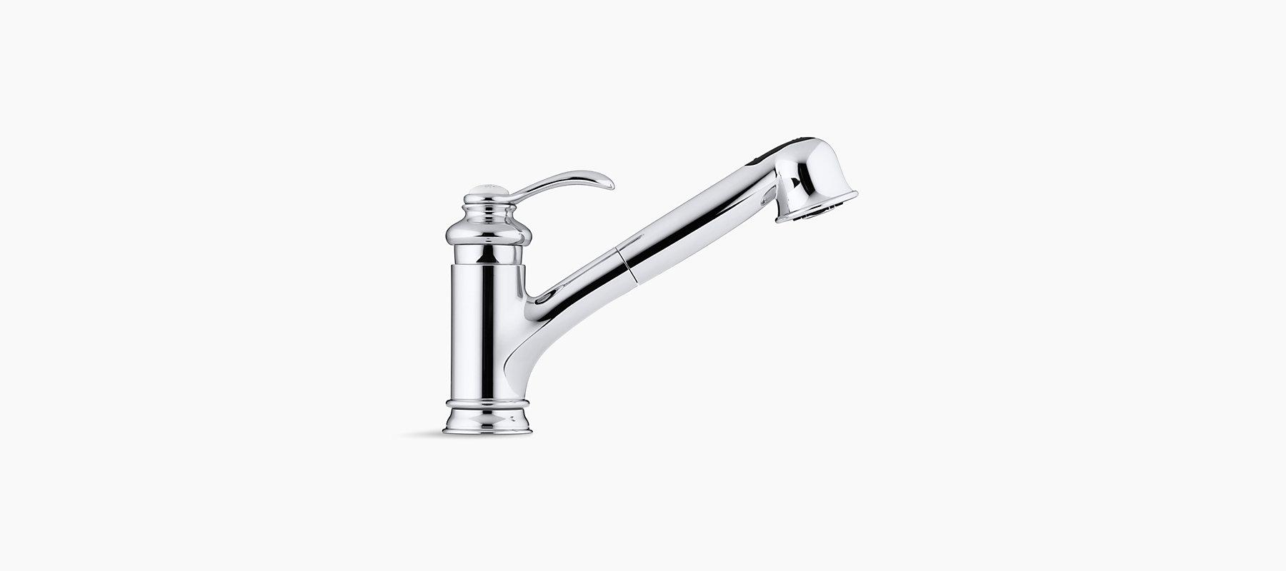 K 12177 Fairfax Single Handle Pull Out Kitchen Sink Faucet Kohler