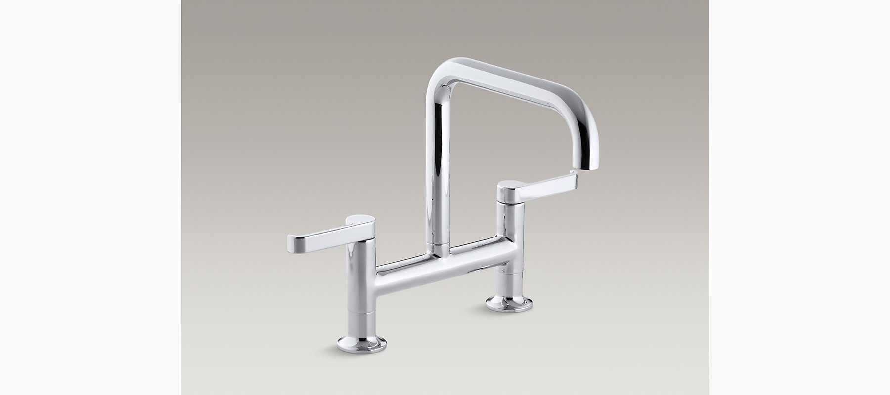 Torq Deck Mount Bridge Kitchen Faucet K 6125 4 Kohler