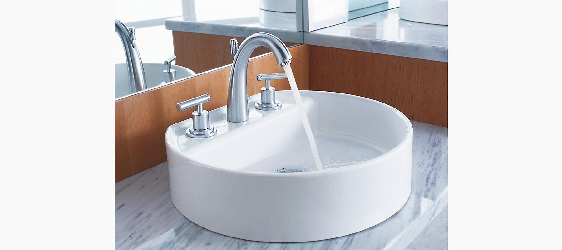Taboret Widespread Sink Base Faucet with Escutcheons | K-8215-K | KOHLER
