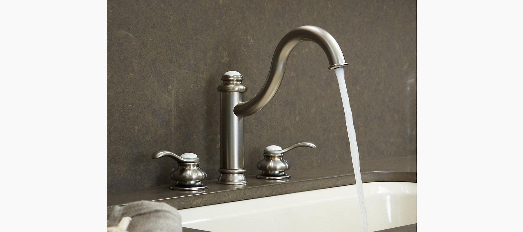 Fairfax High Spout Kitchen Sink Faucet with Lever Handles   K-12230 ...