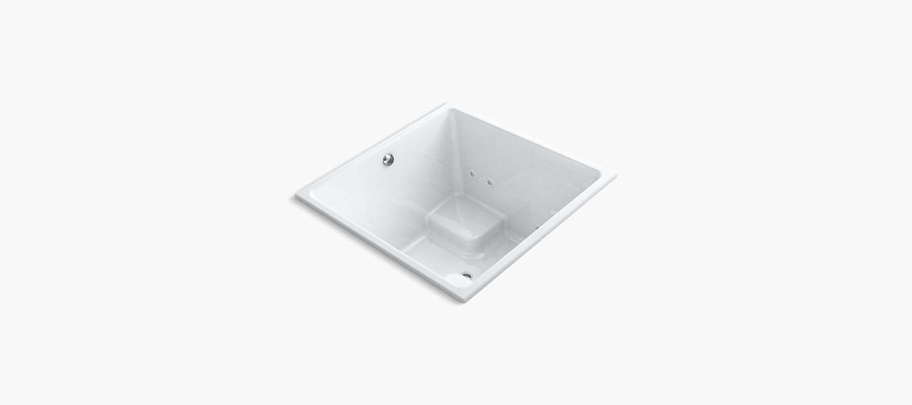K 1969 H2 Underscore 4 Foot Square Drop In Whirlpool Bath W Heater Kohler