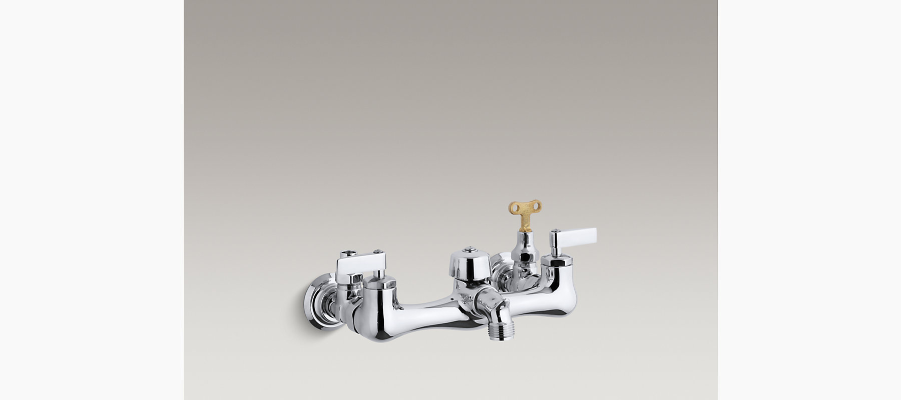 Knoxford double lever handle service sink faucet with loose-key ...