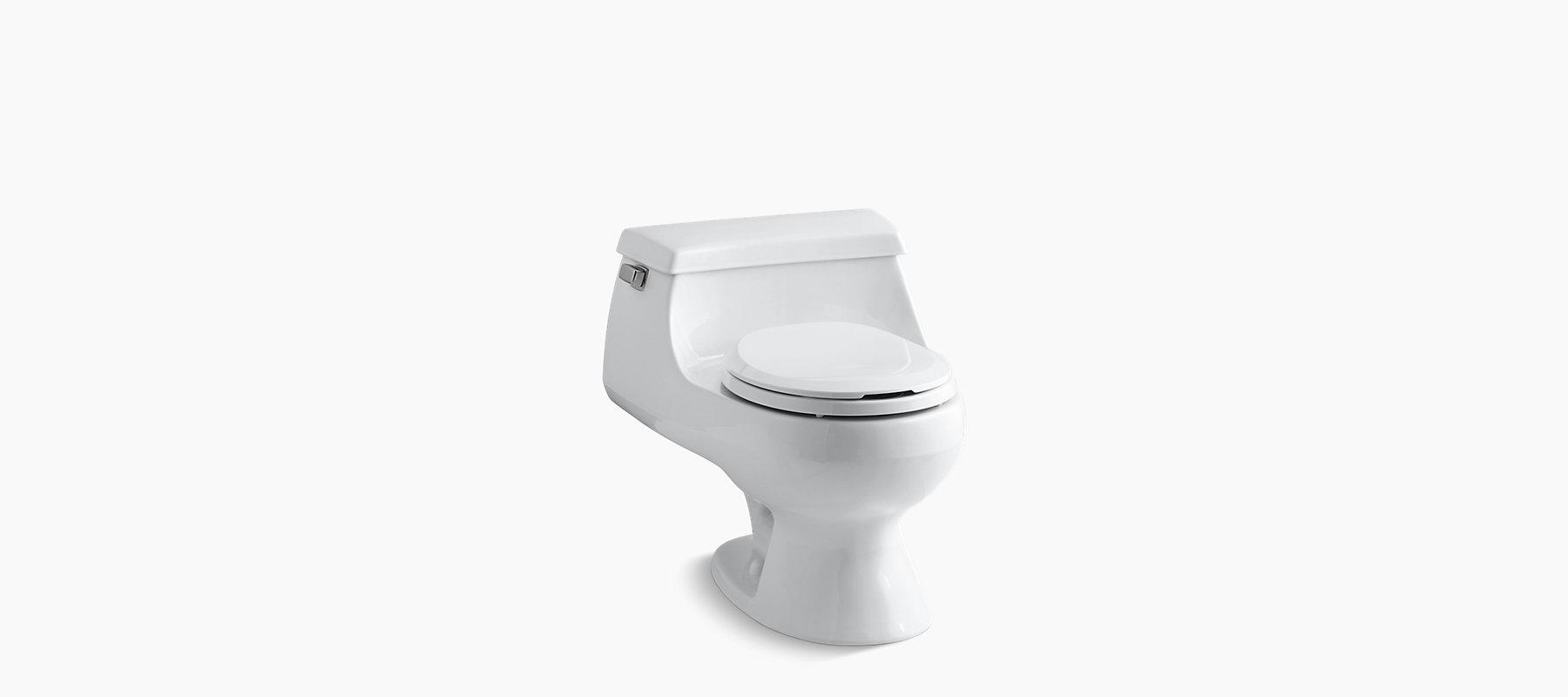 Kohler K 3386 Rialto One Piece Round Front 1 6 Gpf Toilet