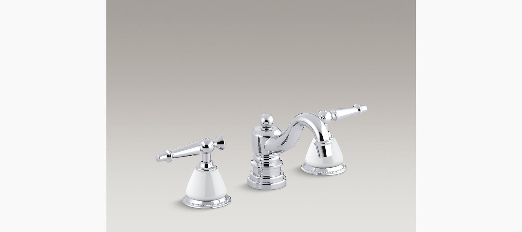 Signature Hardware Victorian Widespread Bathroom Faucet: Antique Widespread Sink Faucet With Lever Handles