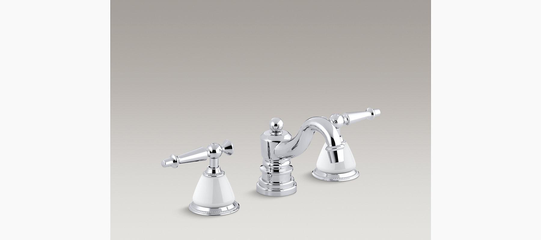 Kohler antique widespread sink faucet with lever handles - Discontinued kohler bathroom sink faucets ...