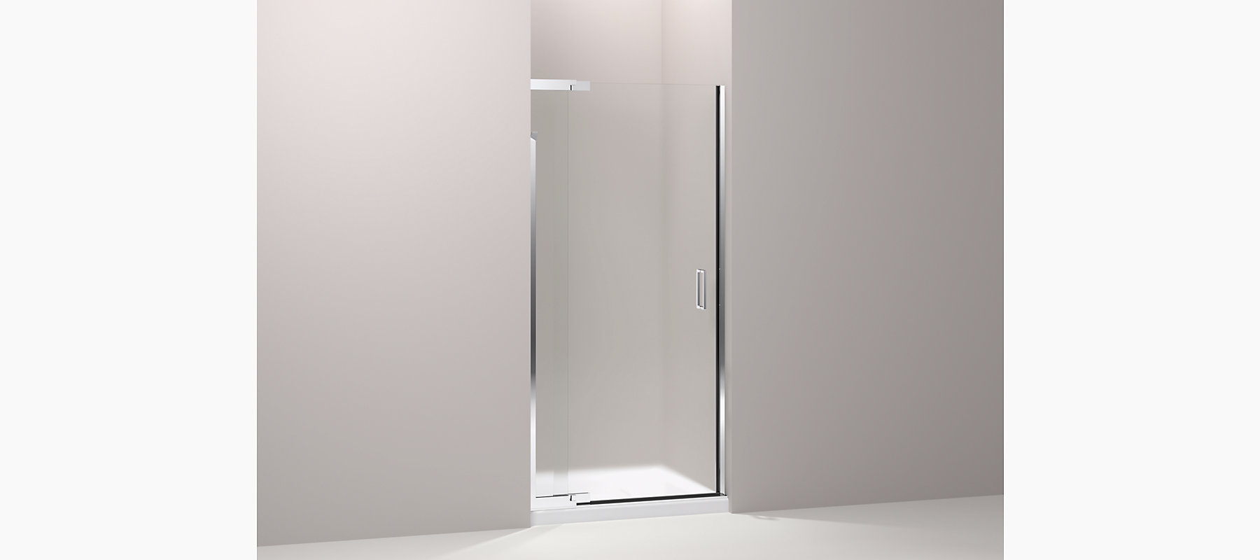 Purist Frameless Pivot Shower Door Frosted Glass K 702011 D3 Kohler