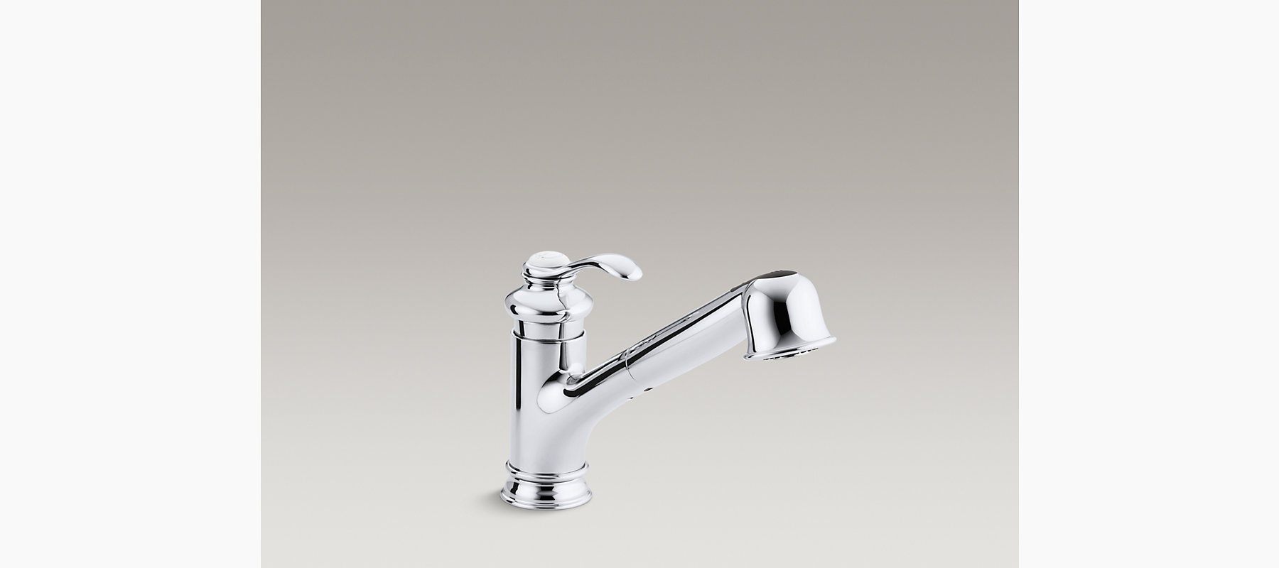 KR Fairfax SingleHandle Pullout Kitchen Sink Faucet KOHLER - Kohler fairfax single hole bathroom faucet