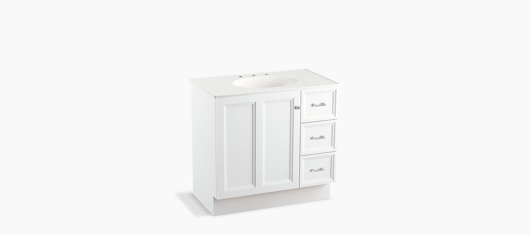 K 99520 Tkr Damask 36 Inch Vanity With Toe Kick 1 Door 3 Drawers Kohler