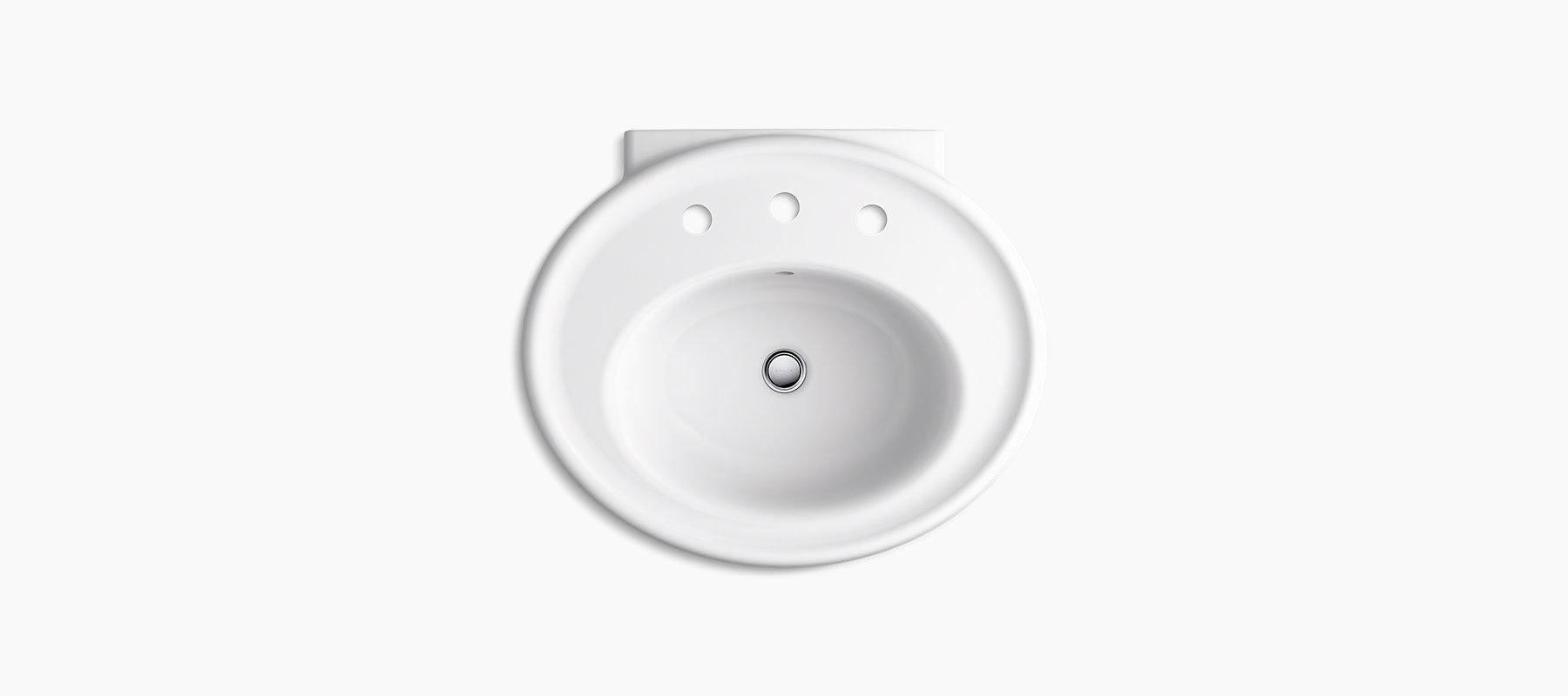 K R6384 8 Willamette Pedestal Sink Basin Kohler