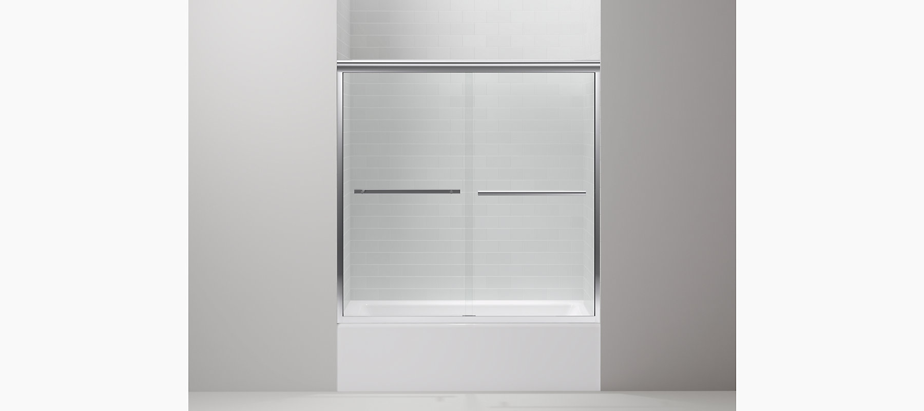 Gradient frameless sliding bath door k r709062 l kohler discontinued vtopaller Gallery