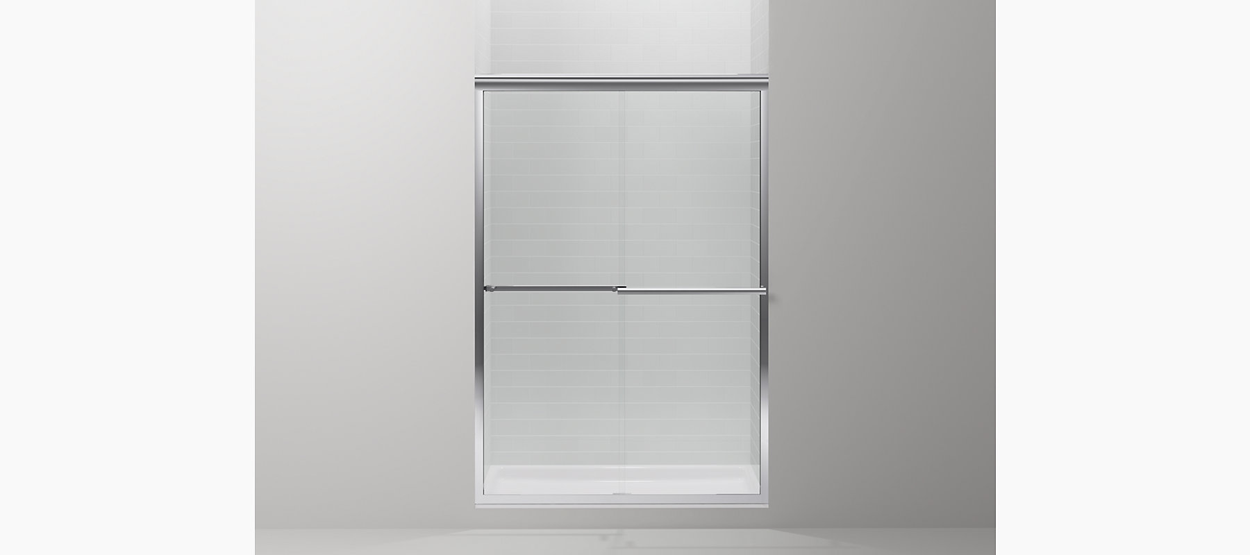 Gradient frameless sliding shower door k r709063 l kohler discontinued vtopaller Gallery