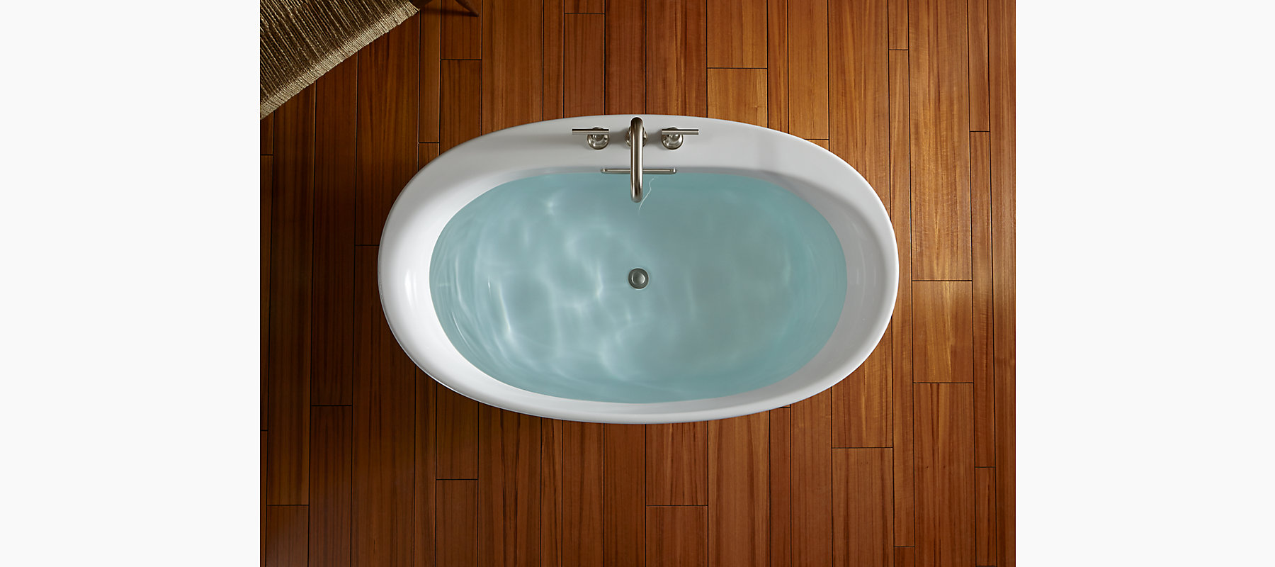 Underscore 5-Ft BubbleMassage Bath with Music | K-5702-G2M | KOHLER