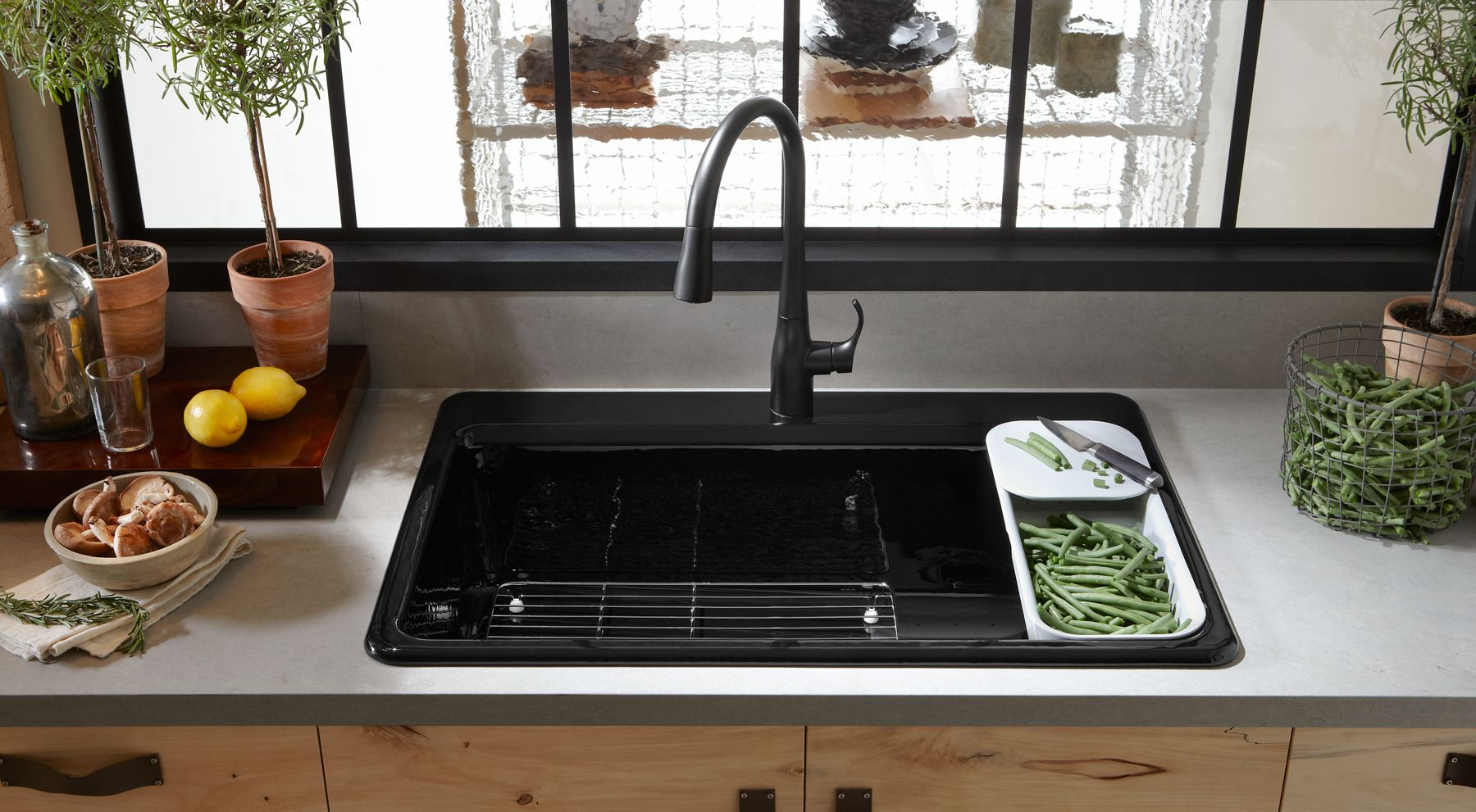 Kitchen Sink With Clean Dishes kitchen sink bowl configurations | buyer's guide | kohler