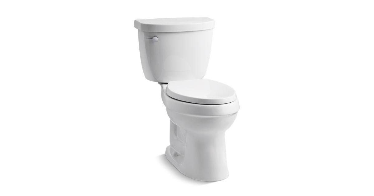 Cimarron Comfort Height 2-Piece Elongated 1.28-GPF Toilet | K-98977 ...
