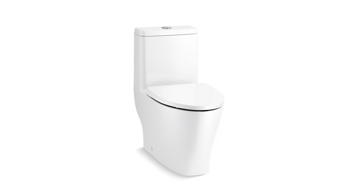 Reach Curv One Piece Compact Elongated Dual Flush Toilet K 23188 Kohler Kohler Canada
