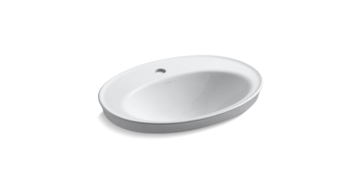 K 2075 1 Serif Drop In Sink With Single Faucet Hole Kohler