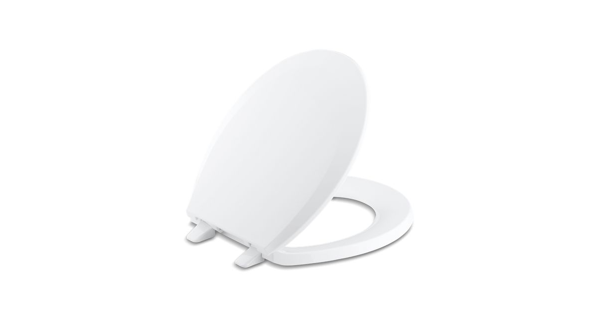 Astounding K 4662 Lustra Round Front Toilet Seat With Quick Release Kohler Ncnpc Chair Design For Home Ncnpcorg