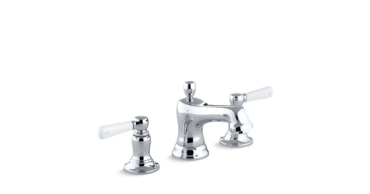 K-10577-4P | Bancroft Widespread Sink Faucet, Ceramic Lever ...