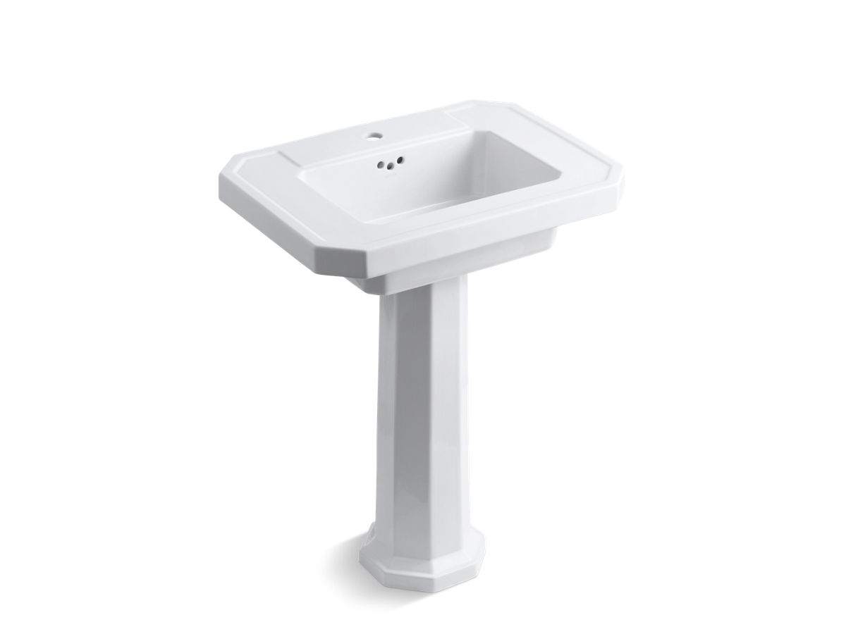 kathryn fireclay basin and pedestal with single faucet hole | k