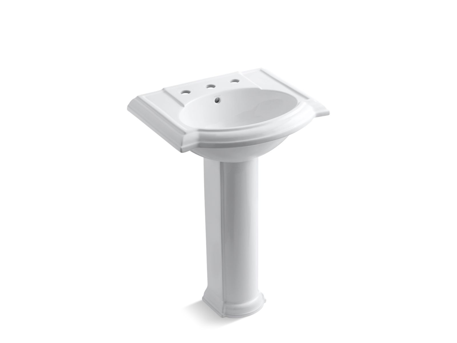 Devonshire Pedestal Sink With 8 Inch Centers K 2286 Kohler Bathroom Parts Diagram Plumbing Installation Diagrams R