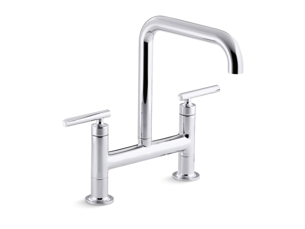 purist deck-mount bridge faucet | k-7547-4 | kohler