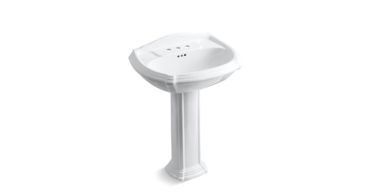 Kohler Portrait Pedestal Sink.K 2221 4 Portrait Pedestal Sink With 4 Inch Centers Kohler