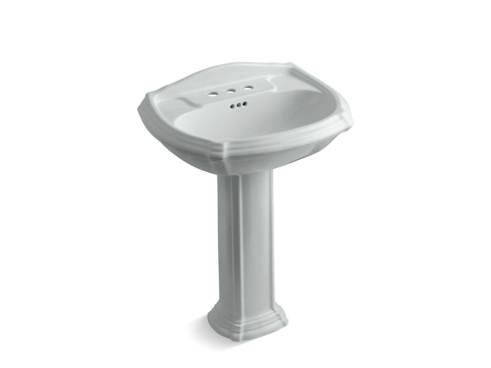 Portrait Pedestal Sink with 4-Inch Centers | K-2221-4 | KOHLER