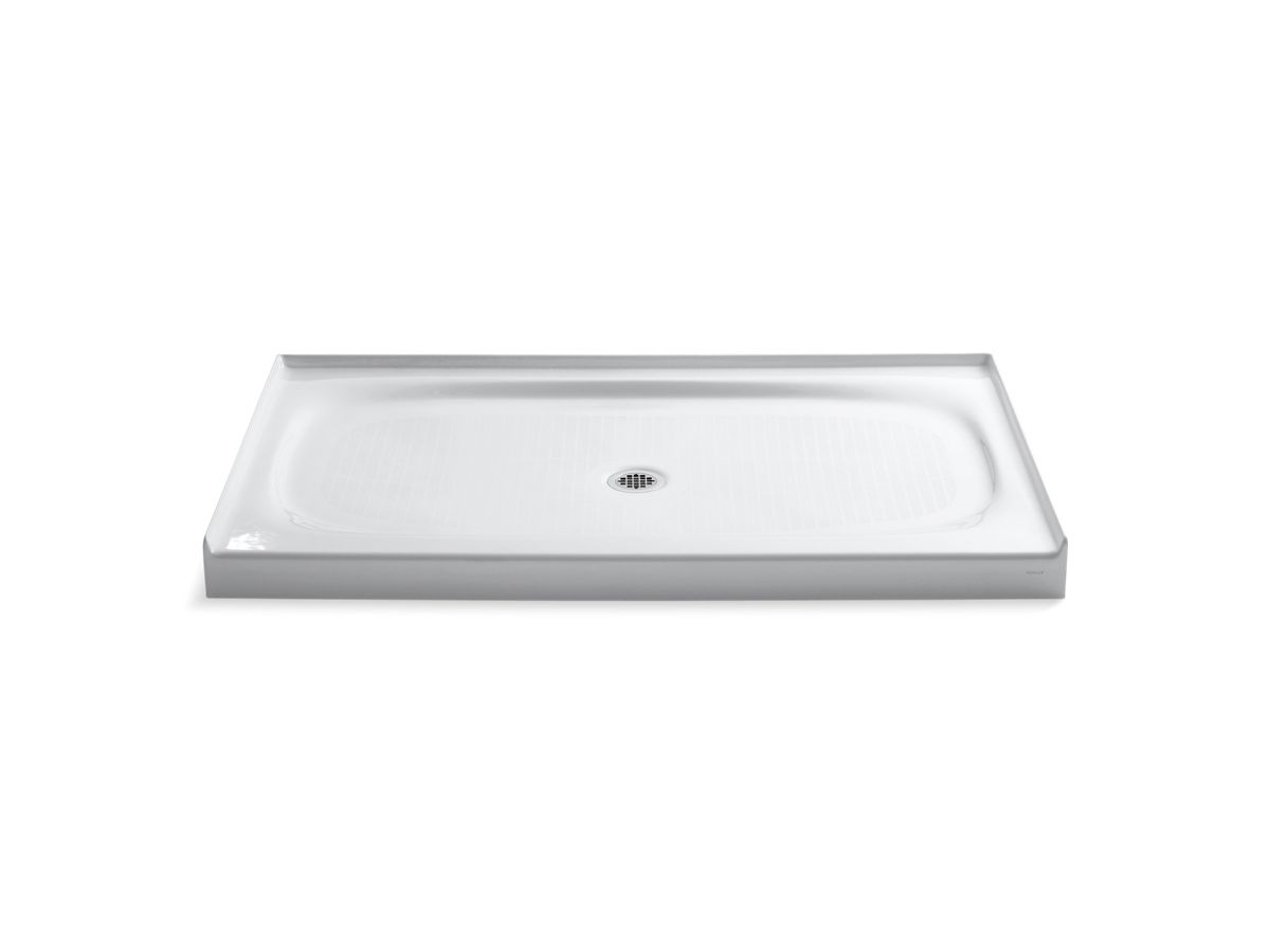 kohler cast iron shower base 60 x 36 K 9055 | Salient Shower Base, Center Drain | KOHLER kohler cast iron shower base 60 x 36