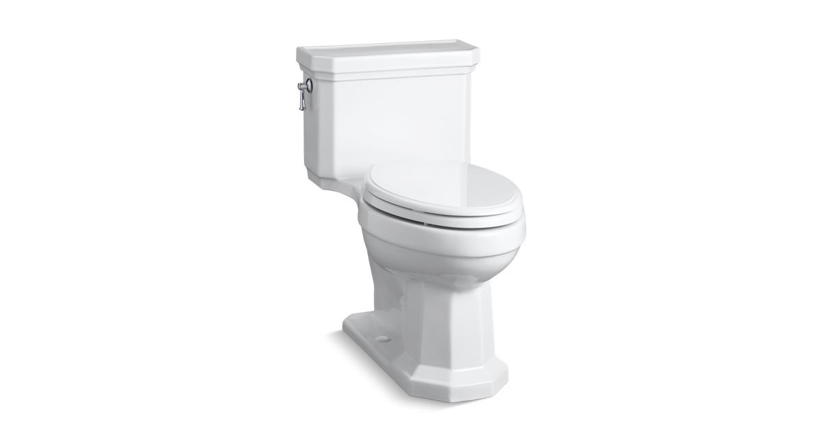 K-3940 | Kathryn® Comfort Height elongated one-piece 1.28 gpf toilet ...