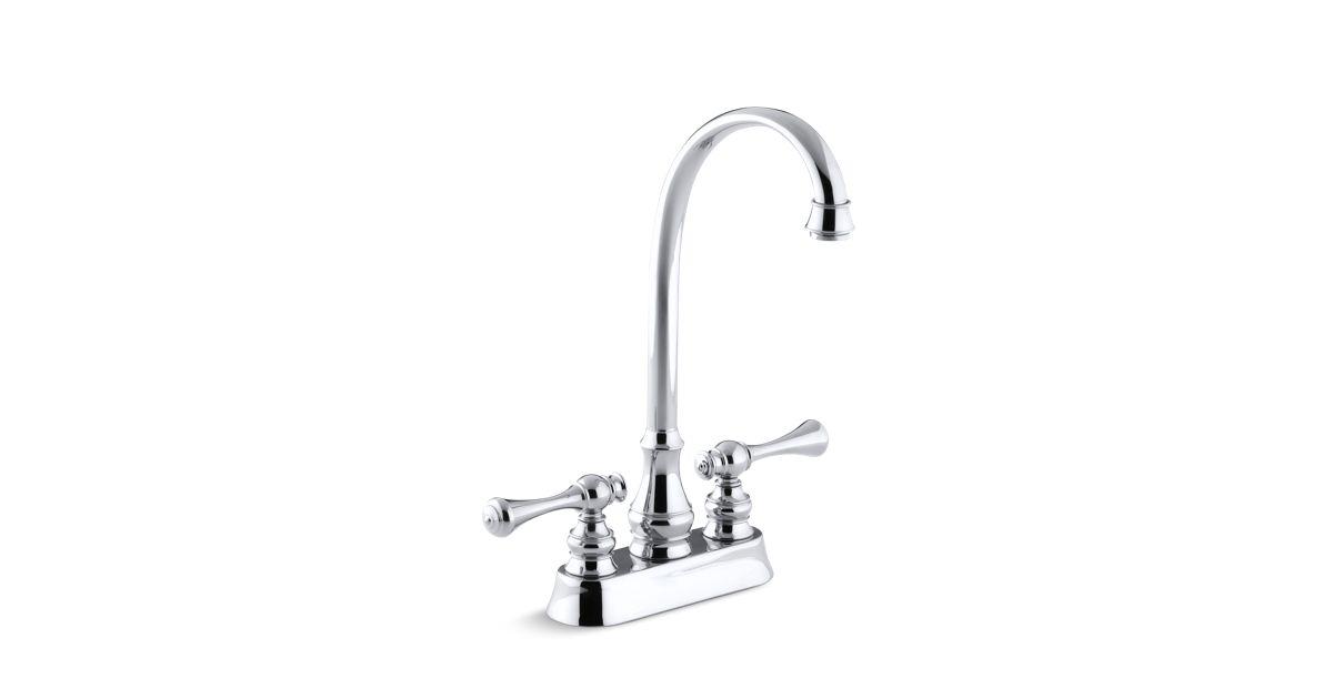 K 16112 4a Revival Bar Sink Faucet With Traditional Lever Handles Kohler