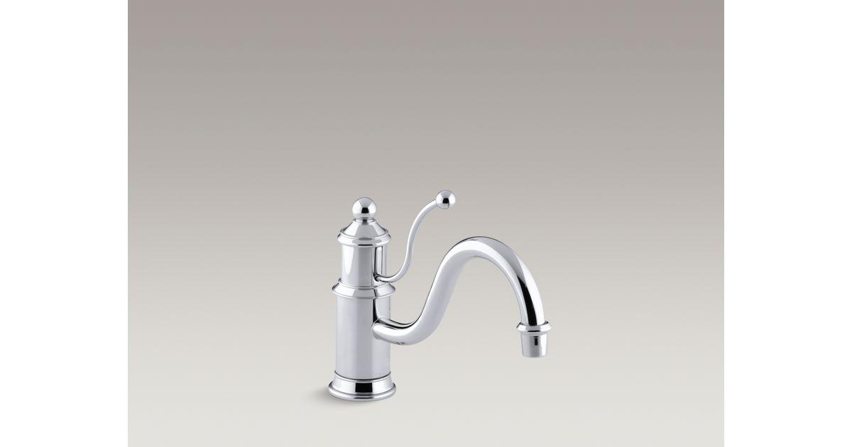 K 168 Antique Single Handle Kitchen Sink Faucet Kohler