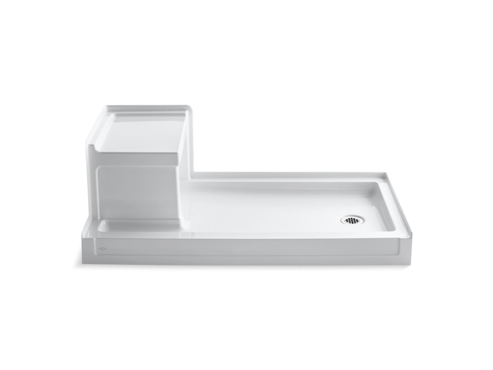 K 1976 | Tresham Shower Base With Seat And Right Hand Drain | KOHLER