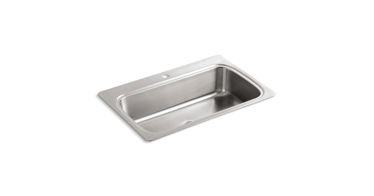 312991a923 K-3373-1 | Verse Top-Mount Kitchen Sink with Single Faucet Hole | KOHLER