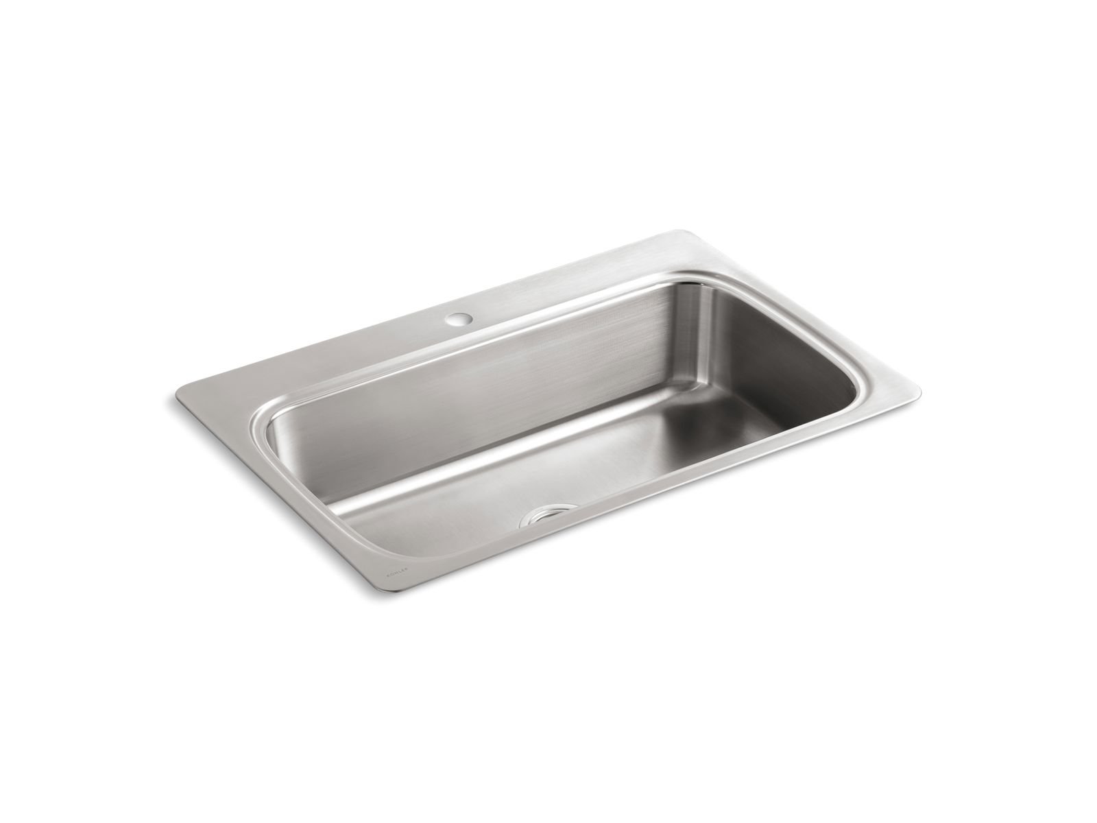 K 3373 1 | Verse Top Mount Kitchen Sink With Single Faucet Hole | KOHLER