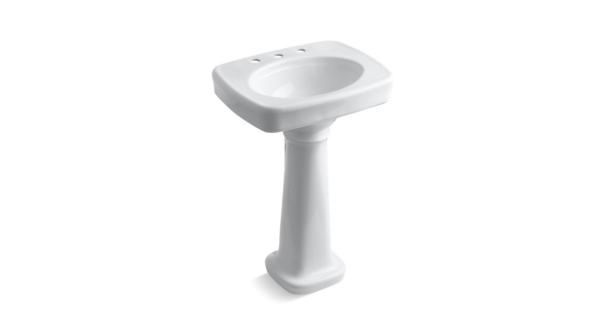 Bancroft Pedestal Sink with 8-Inch Centers | K-2338-8 | KOHLER