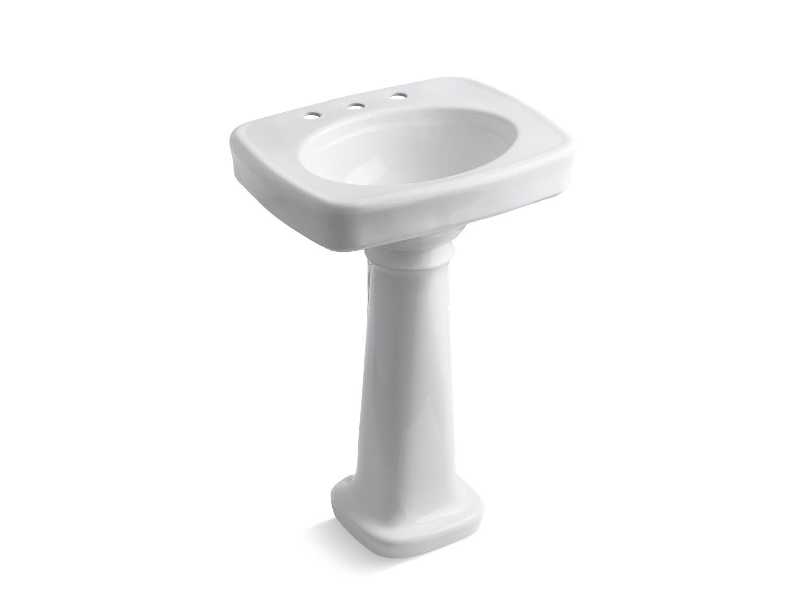Bancroft Pedestal Sink With 8 Inch Centers | K 2338 8 | KOHLER