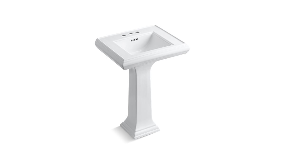 Memoirs Pedestal Sink with Classic Design, 4-Inch Centers   K-2238-4 ...