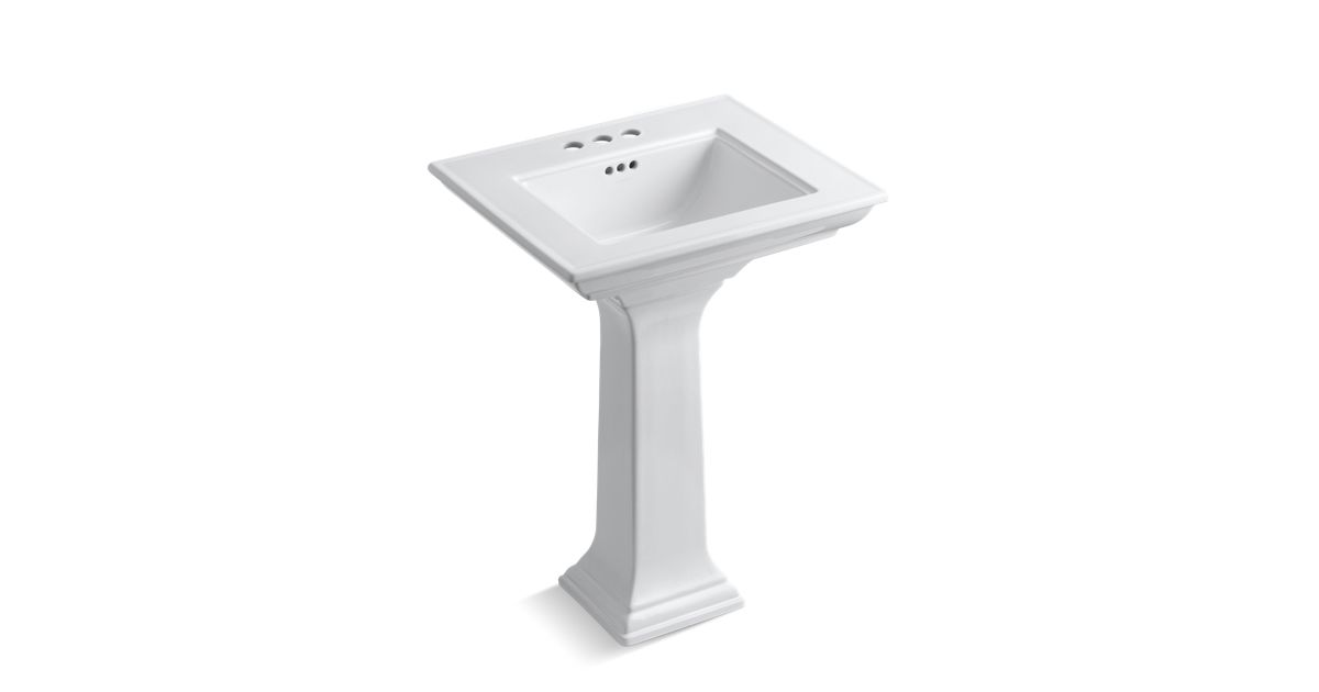 Memoirs Pedestal Sink With Stately Design 4 Inch Centers