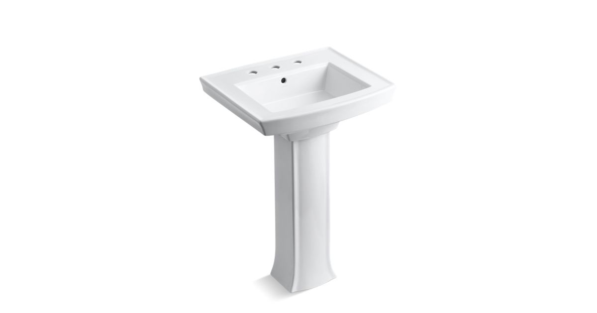 K 2359 8 Archer Pedestal Sink With