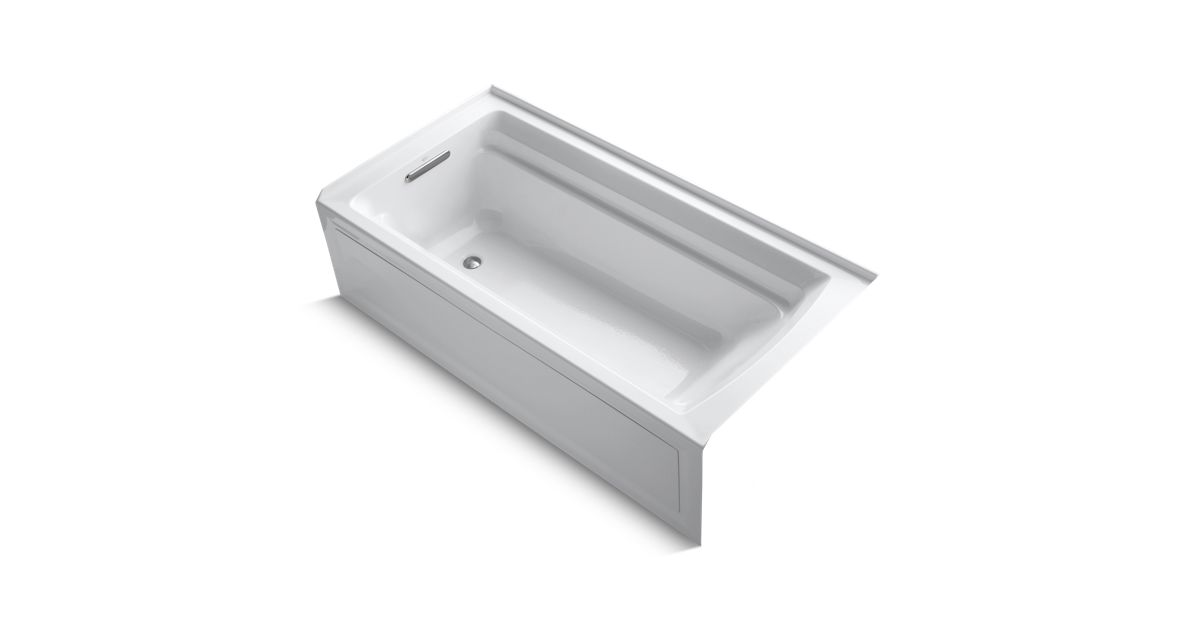 Archer 6-Ft Bath w/ Comfort Depth, Apron, and Left Drain | K-1125 ...
